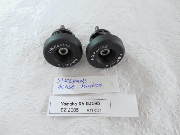 Yamaha YZF R6 RJ095 Sturzpads und Ständeraufnahme hinten