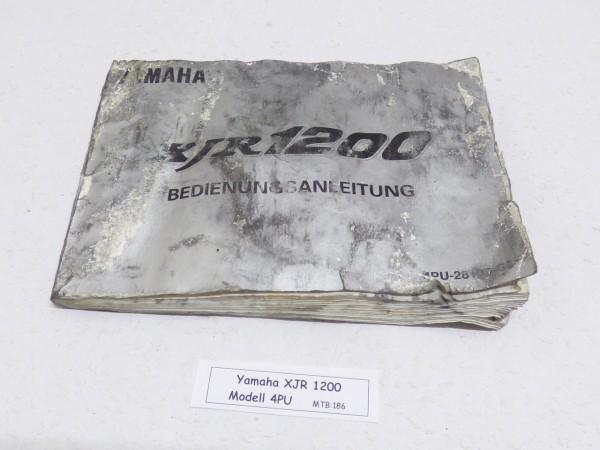 Yamaha XJR 1200 4PU Bedienungsanleitung Schaltplan | XJR 1200 4PU ...