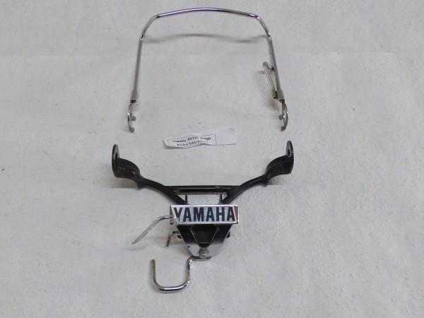 Yamaha XV 125 Virago Blinkerhalterung vorn mit Yamaha Schriftzug schwarz