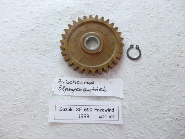 Suzuki XF 650 Freewind Zwischenrad Ölpumpenantrieb