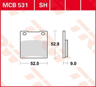 TRW Lucas Scheiben Bremsbelag MCB531