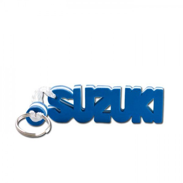 """Schlüsselanhänger """"Suzuki"""" Farbe: Blau/Weiß/Blau"""