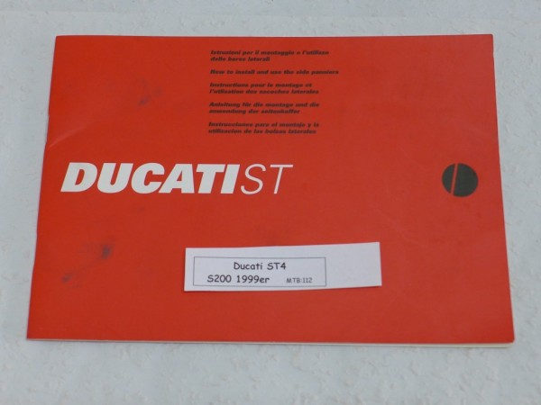Ducati ST4 S200 Anleitung Seitenkoffer